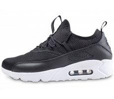 Air Max 90 Leather, Baskets mode homme, Noir (Black/Black 001), 41 EUNike