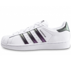 Chaussures adidas Superstar junior blanche et iridescent
