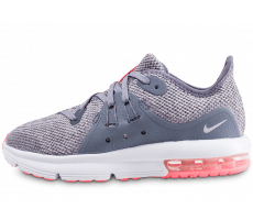 Chaussures Nike Air Max Sequent 3 Enfant Grise et Rose