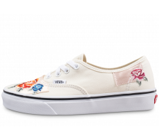 Chaussures Vans Authentic Patchwork Satin beige femme