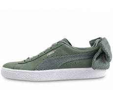 Chaussures Puma Suede Bow Uprising kaki femme