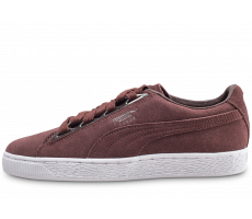 Chaussures Puma Suede Jewel Metallic Marron femme