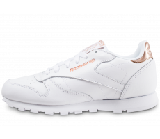 Chaussures Reebok Classic Leather blanche et or junior