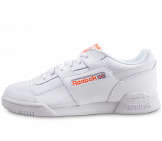 Chaussures Reebok Workout Plus blanche et orange