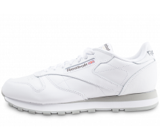Chaussures Reebok Classic Leather blanc et gris