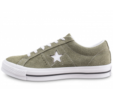 Chaussures Converse One Star Vintage OX Suede kaki