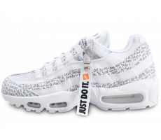 Chaussures Nike Air Max 95 SE blanche Just Do It