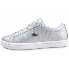 Chaussures Lacoste Straightset argentée femme