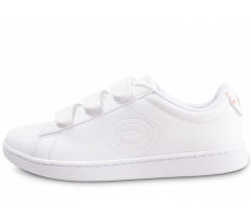 Chaussures Lacoste Carnaby Evo à scratch blanche femme