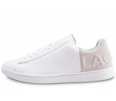 Chaussures Lacoste Carnaby Evo Embossed rose et blanc