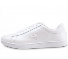 Chaussures Lacoste Carnaby Evo blanc nacré femme
