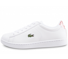 Chaussures Lacoste Carnaby Evo junior blanc et rose