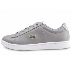 Chaussures Lacoste Carnaby Evo junior gris et blanc