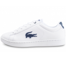 Chaussures Lacoste Carnaby Evo blanche et bleue junior