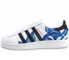 Chaussures adidas Superstar Canvas bleue et blanche femme The Farm Company