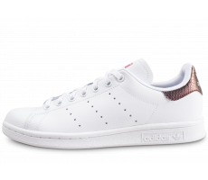 Chaussures adidas Stan Smith snake blanche et marron junior