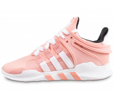 Chaussures adidas EQT Support ADV rose et blanche enfant
