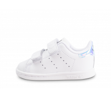 Chaussures adidas Stan Smith à scratch iridescente bébé
