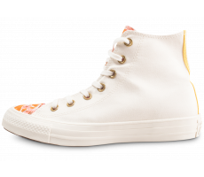 Chaussures Converse Chuck Taylor All Star Parkway Floral High Top blanche et orange femme