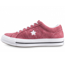 Chaussures Converse One Star OX bordeaux femme