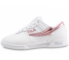 Chaussures Fila Original Fitness blanche et rose femme