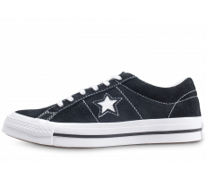 Chaussures Converse One Star Vintage Suede OX noir junior