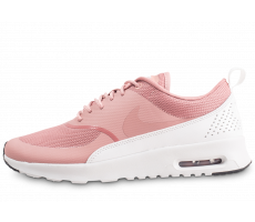 Chaussures Nike Air Max Thea rose et blanche femme