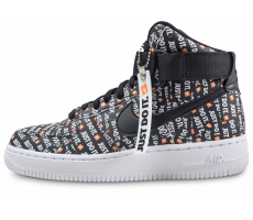 Chaussures Nike Air Force 1 High LX Just Do it noire