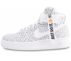 Chaussures Nike Air Force 1 High Just do it LX blanche femme