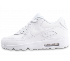 Chaussures Nike Air Max 90 Leather blanc junior