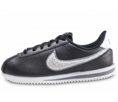 Chaussures Nike Cortez Basic Leather SE noire junior
