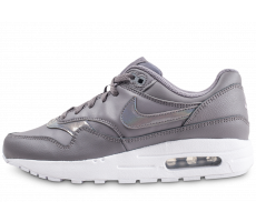 Chaussures Nike Air Max 1 grise et blanche junior