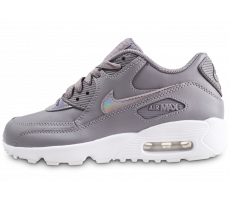 newest 41896 04c72 ... Chaussures Nike Air Max 90 Leather grise junior ...