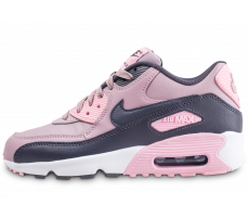 Chaussures Nike Air Max 90 Leather rose junior