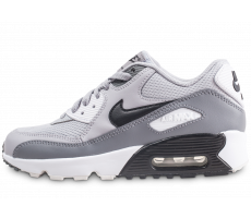 Chaussures Nike Air Max 90 Mesh gris junior