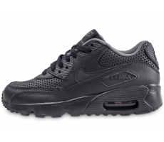 Chaussures Nike Air Max 90 SE Leather noir junior