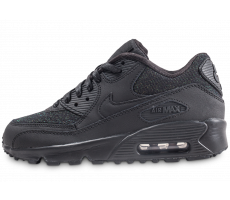 Chaussures Nike Air Max 90 SE Mesh noir junior