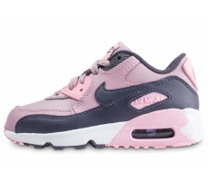 Chaussures Nike Air Max 90 Leather Pre-School rose enfant