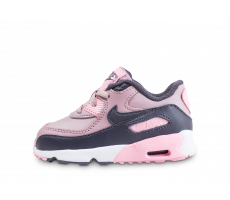 Chaussures Nike Air Max 90 Leather rose bébé