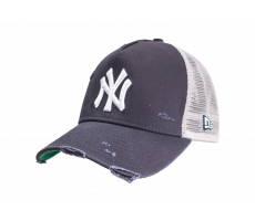 Accessoires New Era Casquette Distress Trucker noire League New York