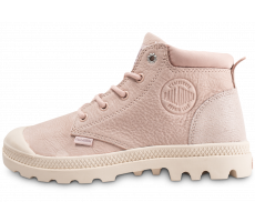 Chaussures Palladium Pampa Low rose femme