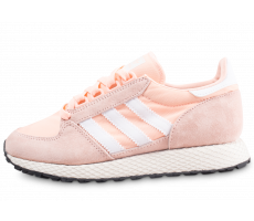 Chaussures adidas Forest Grove rose et blanche femme