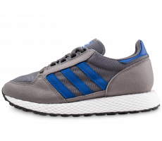Chaussures adidas Forest Grove grise et bleue junior