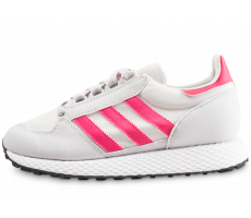 Chaussures adidas Forest Grove gris et rose junior