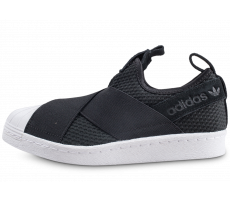 Chaussures adidas Superstar Slip-on core black et blanc femme