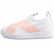 Chaussures adidas Superstar Slip-on blanc et orange femme