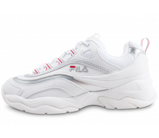 Chaussures Fila Ray Low blanche et argent femme