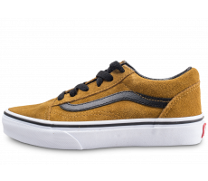 Chaussures Vans Old Skool jaune moutarde daim enfant