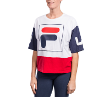 Textiles Fila T-shirt Late Cropped blanc femme