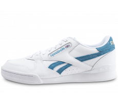 Chaussures Reebok Phase 1 Pro X Montana Cans blanche et bleue